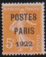 "France   .    Yvert      .    P.  30        .         O   .         ""oblitéré'"" - Preobliterados"