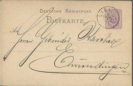 STEMPEL: Liel - Stamped Stationery 1878 - Germany