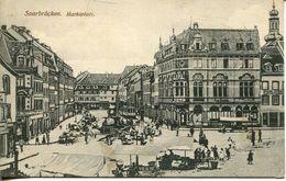 Saarbrücken - Marktplatz 1930 (001187) - Saarbrücken