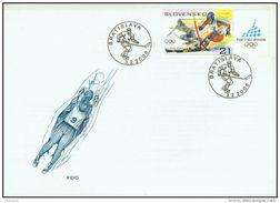 FDC 369 SLOVAQUIE 2006  JO Hiver TURIN TORINO Ski Alpin Slalom Skiing Yv 458 Mi 527 - FDC
