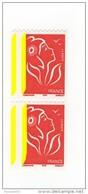 Lamouche TVP Rouge Roulette ITVF YT 3743 Paire Avec 2 Bandes à Gauche . Superbe, Voir Scan. Maury N° 3725b : 20 € - Abarten: 2000-09 Ungebraucht