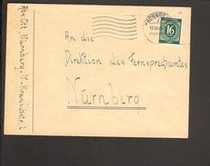 Alli.Bes.16 Pfg.Ziffer Auf Orts-Brief Aus Nürnberg - Gemeinschaftsausgaben