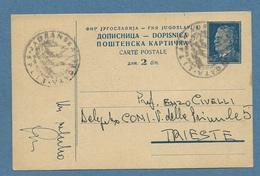 SPORT  VELA  SPLIT SPALATO JADRANSKA  1950 ANNULLO SPECIALE SU INTERO POSTALE PER TRIESTE - Pallavolo