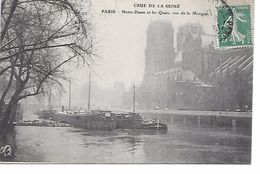 """75 PARIS BELLE CPA 1910 """"PENICHES """"NOTRE DAME ET LES QUAIS VUS DE LA MORGUE"""" - Houseboats"""