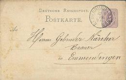 STEMPEL: Neuenburg I Baden. - Stamped Stationery 1878 - Germany