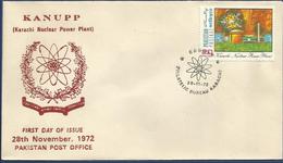 PAKISTAN MNH 1972 FDC FIRST DAY COVER FDC KANUPP KARACHI NUCLEAR POWER PLANT - Pakistan