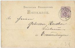 STEMPEL: Krotzingen. - Stamped Stationery 1878 - Germany