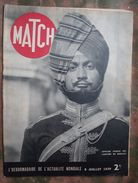 MATCH : 1939 : SACHA GUITRY . SINGAPOUR . ROOSEVELT - WALL STREET . ROLLET - LEGION ETRANGERE . ELISABRTH II . HITLER .. - Journaux - Quotidiens
