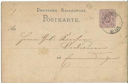 STEMPEL: Schallstadt. And Emmendingen.- Stamped Stationery 1878 - Germany