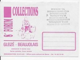 Enveloppe ,Forum Collections Gleizé En Beaujolais 1992 - Sonstige