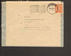 Alli.Bes.24 Pfg.Ziffer Auf Fern-Brief Aus Nürnberg Doppelt Verwendeter Brief - Zone AAS