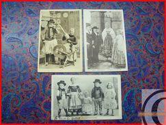 BRETAGNE 29 FINISTERE KERLOUAN Costume Mariage Famille Enfants Vieillards Bretons Fileuse Rouet Us Coutumes Regionalisme - Kerlouan