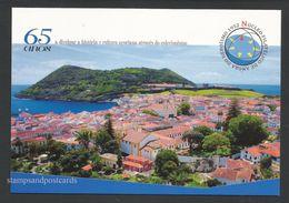 Portugal Carte Entier Postal 2017 Vue De Angra Do Heroísmo Açores Club Philatelique Angra View Azores Stationery - Ganzsachen