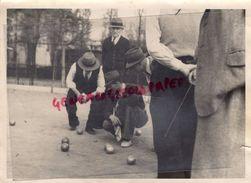 87 -MEZIERES SUR ISSOIRE - BELLAC- PETANQUE - BELLE PHOTO ORIGINALE - PROVENANCE  FAMILLE DU SECTEUR NORD HAUTE VIENNE - Bowls - Pétanque
