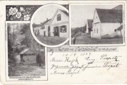 Gruss Aus KATZELSDORF Bei Wr.Neustadt (NÖ) - EICHBICHL, Sehr Schöne Seltene Karte, Gel.1905?, Rückseitig Klebespuren - Otros