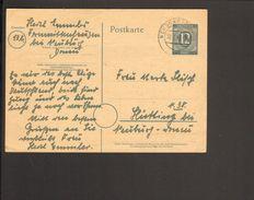 Alli.Bes.Ganzsache P 954  Als Fernpostkarte Aus Neuburg Donau - Zona AAS