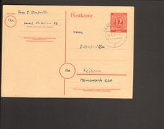 Alli.Bes.Ganzsache P 953  Als Postkarte Aus Saal (Donau) - Zona AAS