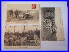 1914 - 18 WWI GGI Militaria 60 OISE COMPIEGNE Canon Allemand 77 Artillerie Francaise Batterie  75 En Position Boue - Compiegne