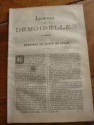 1883 Journal Des Demoiselles  : Mémoires Du Comte De Ségur; En Omnibus; Economie Domestique;etc - Vieux Papiers