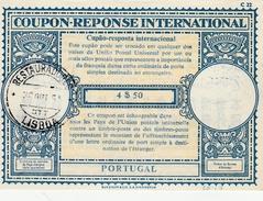 Coupon Réponse Portugal 4$50 1961 Lisboa Restauradorlo - Type LO 17 - Cupao-resposta IRC CRI IAS - Enteros Postales