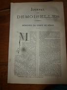 1883 JOURNAL DES DEMOISELLES :Mémoires Du Comte De Ségur;La Vie à Nancy;Plantes étranges (ortie,cuscute,figuier Maudit) - Vieux Papiers