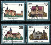 DDR - Michel 2976 / 2979 - OO Gestempelt (B) - Burgen II - Usati