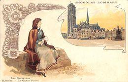 Malines - Les Dentelles - La Grand'Place (Litho, Chocolat Lombart) - Mechelen