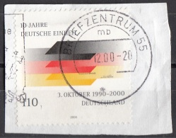 2102 Germania 2000 Riunificazione Germany Deutschland Su Frammento On Paper - [7] Repubblica Federale