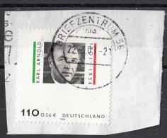 2118 Germania 2001 Karl Arnold Uomo Politico Germany Deutschland Su Frammento On Paper - [7] Repubblica Federale