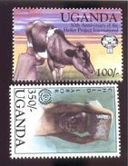 UGANDA  1221 & 1252  MINT NEVER HINGED STAMPS ; HELFER PROGECT ; CHILD LEBOR - Uganda (1962-...)