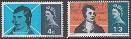 GB SG685-686 1966 Burns Commemoration Set 2v Unmounted Mint [16/15063/25D] - 1952-.... (Elizabeth II)