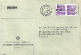 """Motiv Brief  """"ETH - Hygienisch-bakteriologisches Institut, Zürich""""              1934 - Schweiz"""