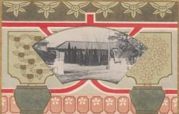 Japan Unknown Location, Art Nouveau Theme Border Design, C1900s/10s Vintage Postcard - Japan