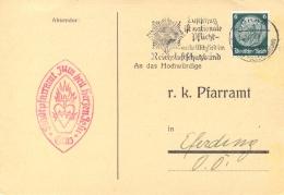 """Austria 1939 German Occupation Postcard With Graz Machine Cancel """"Luftschutz"""" On 6 Pf Hindenburg - Ocupación 1938 – 45"""