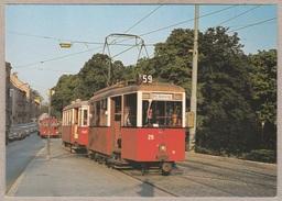 Wiener Stadtwerke-Verkehrsbetriebe - Triebwagen Typ A Und Beiwagen Type M3 - Linie 59 Wien 14, Handikape / Kennedy Brück - Tramways
