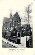 BRUXELLES (1040) - Religion :  EGLISE DU T.S. SACREMENT, 205 CHAUSSEE DE WAVRE. CPA Précurseurs. - Etterbeek