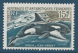 TAAF 1969-70 - YT N°30 - 15f. Faune Et Flore - Orque ( îles Crozet ) - NEUF** TTB Etat - Terres Australes Et Antarctiques Françaises (TAAF)