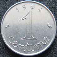 France 1 Centime 1964 - With Rim - France