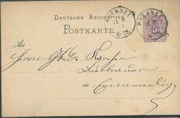 STEMPEL: Brennet. - Stamped Stationery 1879 - Germany