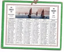 CALENDRIER Cartonné De 1931  - Format 12.7 X 10 Cm - Calendars