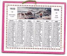 CALENDRIER Cartonné De 1933 - Format 12.7 X 10 Cm - Petit Format : 1921-40