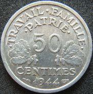 France 50 Centimes 1944 B - Vichy - G. 50 Centimes