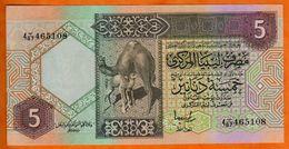Libya 5  DINAR 2002  P.65   UNC - Libië