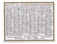 CALENDRIER 1923 - Format 9 X 7 Cm - Petit Format : 1921-40