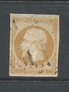 France 1853 Napoleon 10 Cent (yellow Ochre On Lemon?)  Fine Used - 1853-1860 Napoleon III
