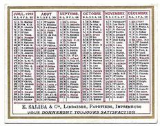CALENDRIER 1929 - Format 9 X 7 Cm - Petit Format : 1921-40