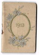 CALENDRIER 1913 - Format 3.5 X 5.5 Cm - Grand Format : 1901-20