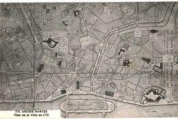 CPA N°6867 - LOT DE 2 CARTES ANCIEN NANTES - PLAN DE LA VILLE EN 1795 + CARTES DES ENVIRONS VERS LA FIN DU XIXe SIECLE - Nantes