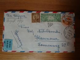 Ganzsachen-Umschlag Mit Zusatzfrankatur Und Zensur Von New Jersey Nach Hannover, Gelaufen 1940 - Lettres & Documents
