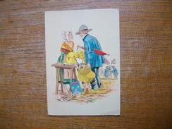 """Angoumois , """" Carte Animée Couple En Costume Du Pays """" - Francia"""